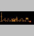 vilnius light streak skyline vector image