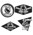Vintage guns shop emblems vector image