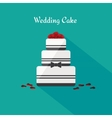 Wedding cake Icon in the flat style vector image