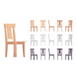 wooden chair furniture set vector image vector image
