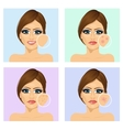 Young girl with a problem and clean skin vector image