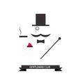 Gentleman abstract logo vector image