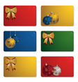 christmas gift cards vector image