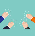 hands clapping applause ovation cheering vector image