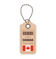 hang tag made in canada with flag icon isolated on vector image