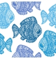 Fish in paisley mehndi doodle style vector image