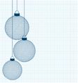 hand-drawn Christmas balls vector image