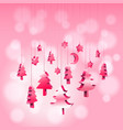 3d isometric christmas ornaments hanging rope in vector image vector image