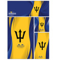 abstract barbados flag banner brochure background vector image vector image