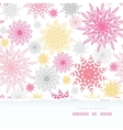 Abstract floral vignettes torn frame seamless vector image vector image