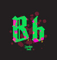 acid zombie gothic font vector image vector image