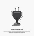 award competitive cup edge prize icon glyph gray vector image vector image