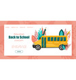 back to school bus poster autumn fall sale vector image vector image