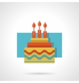 Birthday cake flat color icon vector image vector image