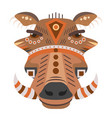 boar head logo decorative emblem vector image vector image