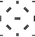 brick wall pattern seamless black vector image vector image