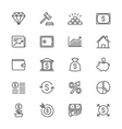 Business and investment thin icons vector image
