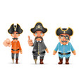 captain pirate funny pointing thumbs up 3d vector image vector image