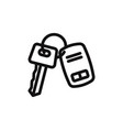 car key icon vector image