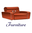 Cartoon couch furniture character vector image vector image