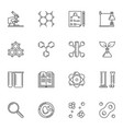 chemistry outline icons chemical concept vector image