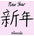 chinese character new year vector image vector image
