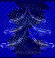 christmas greeting card cyprinus carpio vector image