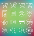 clean icons set for web design and application vector image vector image
