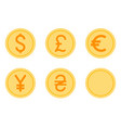 coins icons set vector image vector image