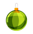 colour christmas green ball isolated on white vector image