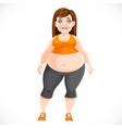 cute girl very full before losing weight vector image
