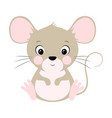 cute mouse isolated on white vector image vector image