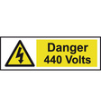 Danger 440 Volts Safety Sign vector image vector image