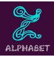 Doodle hand drawn sketch alphabet Letter Z vector image