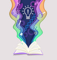 education concept in paper vector image vector image