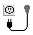 electric plug outlet making a shocking face vector image