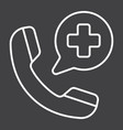 emergency call line icon medicine and healthcare vector image vector image