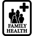 family health sign vector image