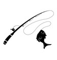 fishing logo black and white a vector image