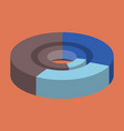 flat icon on stylish background pie chart vector image vector image