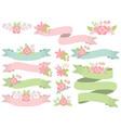 Floral Ribbons Set vector image vector image