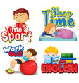 four words design with picture in background vector image