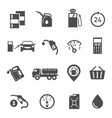 gasoline station items refueling equipment glyph vector image vector image