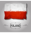 geometric polygonal Poland flag vector image vector image