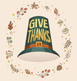 givethanks hat vector image vector image