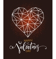 Happy valentines day greeting card with heart vector image vector image