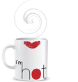 I am hot mug vector image vector image