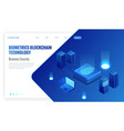 isometric biometrics blockchain technology and vector image
