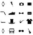 men accessories icon set vector image vector image