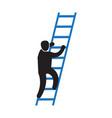 person climbing a career ladder icon vector image